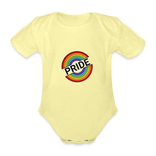 Pride regnbue - Kortærmet babybody, økologisk bomuld