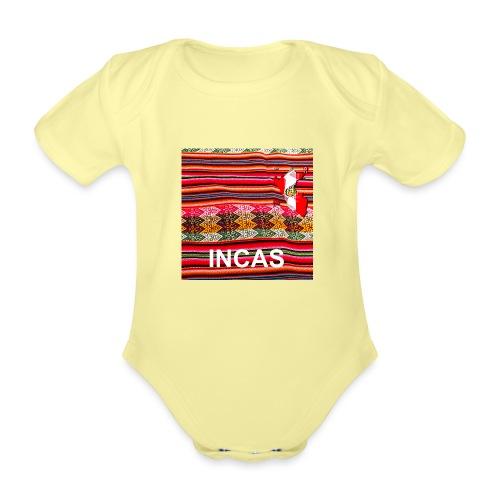 Telar inca Mapa del Peru - Organic Short-sleeved Baby Bodysuit