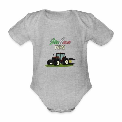 Italian Farm official T-SHIRT - Body ecologico per neonato a manica corta