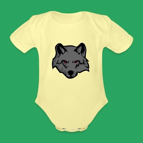 wolf logo - Body ecologico per neonato a manica corta