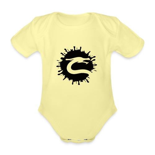 Dragemester_Sort - Kortærmet babybody, økologisk bomuld