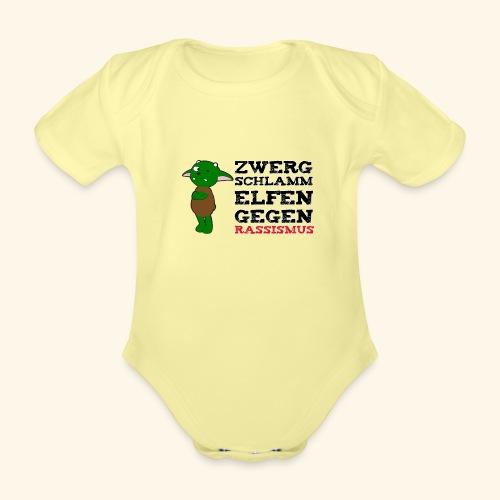 Zwergschlammelfen gegen Rassismus - Baby Bio-Kurzarm-Body