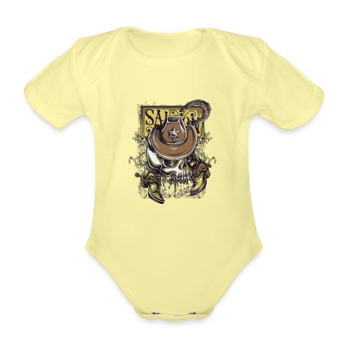 Saloon - Body orgánico de maga corta para bebé