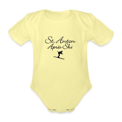 St. Anton Après-Ski Skifahrer - Baby Bio-Kurzarm-Body