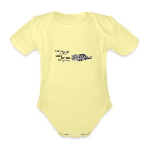 I Wish I Felt Like... (Horizontal) - Ekologiczne body niemowlęce z krótkim rękawem