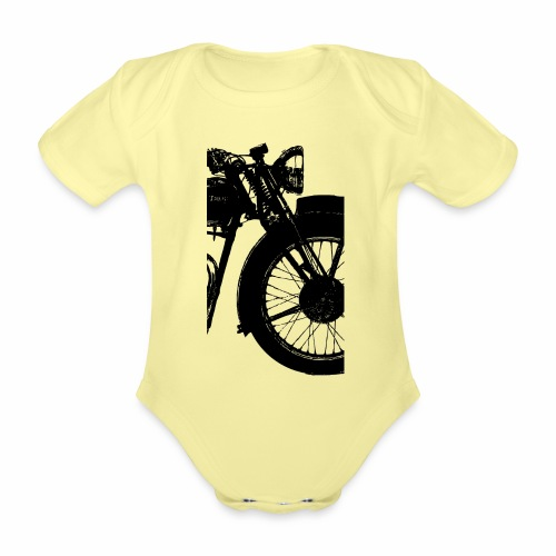 speed twin - Organic Short-sleeved Baby Bodysuit