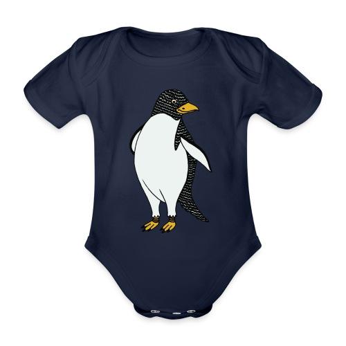 Colored pingun - Organic Short-sleeved Baby Bodysuit