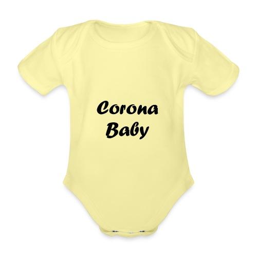 Corona baby merchandise black - Organic Short-sleeved Baby Bodysuit