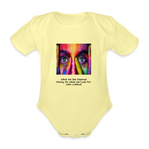 Seeing - Organic Short-sleeved Baby Bodysuit