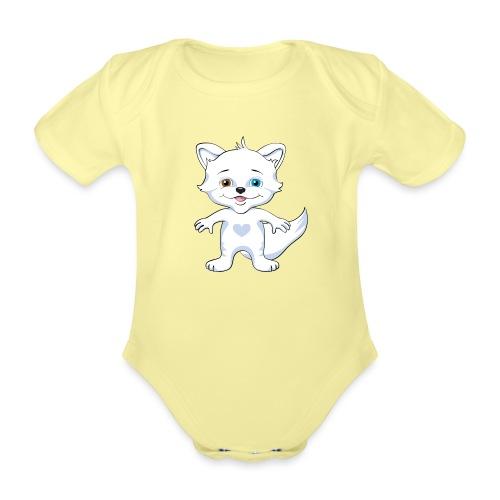Rävlycka - Ekologisk kortärmad babybody