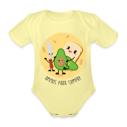 Amigos para siempre 2 - Body orgánico de maga corta para bebé