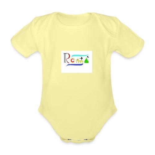 Roma1 - Body ecologico per neonato a manica corta