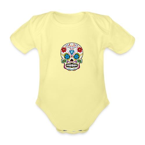 skull5 - Body ecologico per neonato a manica corta