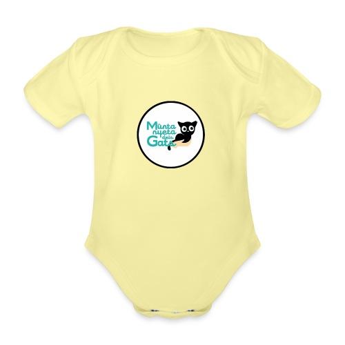 La Muntanyeta dels Gats Logo - Body orgánico de manga corta para bebé