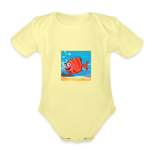 Fish Cartoon - Body ecologico per neonato a manica corta