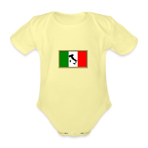 Bandiera Italiana2 - Body ecologico per neonato a manica corta