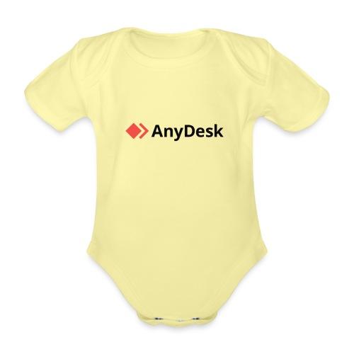 AnyDesk - logo black - Baby Bio-Kurzarm-Body