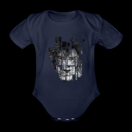 Pixel Lion Tattoo Inspire - Organic Short-sleeved Baby Bodysuit