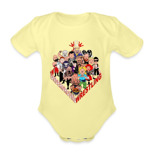 comics-wrestler - Baby Bio-Kurzarm-Body