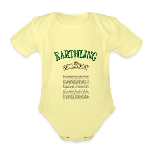 Earthling - Citizen of the World - Ekologisk kortärmad babybody