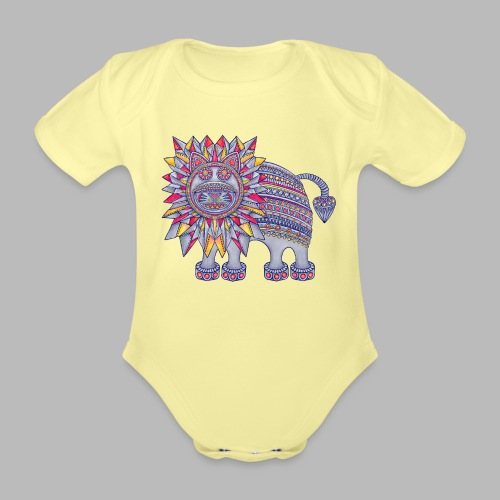 ROAR! - Organic Short-sleeved Baby Bodysuit