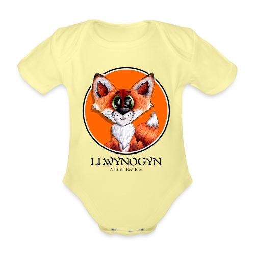 llwynogyn - a little red fox (black) - Vauvan lyhythihainen luomu-body