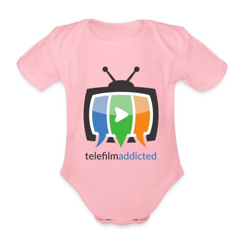 Telefilm Addicted Logo - Body ecologico per neonato a manica corta
