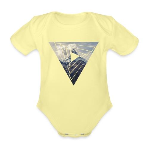 Matterhorn Zermatt Dreieck Design - Baby Bio-Kurzarm-Body