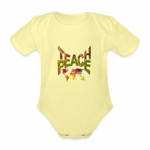 Teach Peace - Organic Short-sleeved Baby Bodysuit
