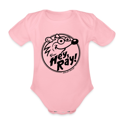 Hey Ray Logo black - Baby Bio-Kurzarm-Body