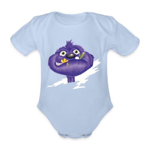 das lila Monster - Baby Bio-Kurzarm-Body