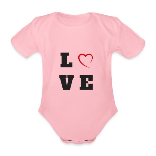 LOVE - Body Bébé bio manches courtes