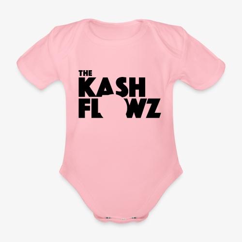 The Kash Flowz Official Black - Body bébé bio manches courtes