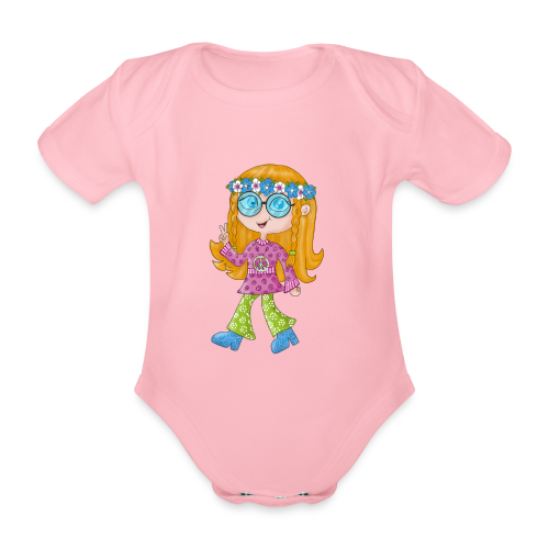 Hippie Girl - Baby Bio-Kurzarm-Body