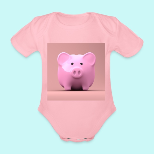 piggy - Organic Short-sleeved Baby Bodysuit