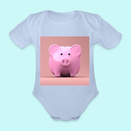 piggy - Organic Short-sleeved Baby Bodysuit