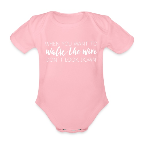 Walk the wire - Barn - Organic Short-sleeved Baby Bodysuit