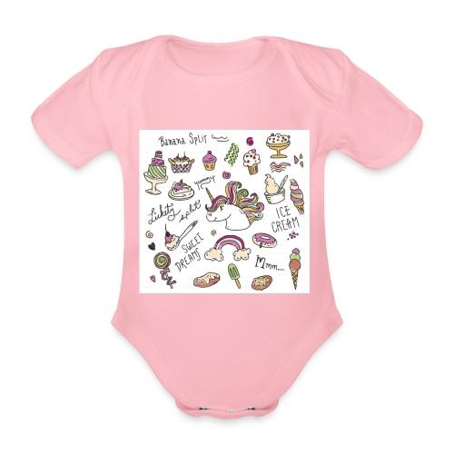 JEDNOROŻCE - Ekologiczne body niemowlęce z krótkim rękawem