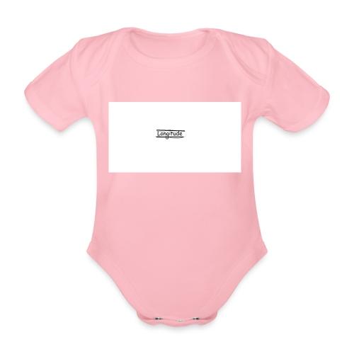 longitude - Organic Short-sleeved Baby Bodysuit