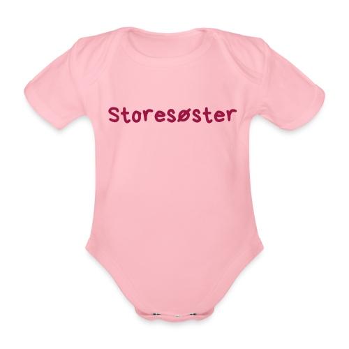 Storesøster - Økologisk kortermet baby-body