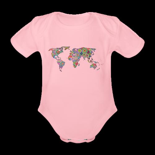 Hipsters' world - Organic Short-sleeved Baby Bodysuit