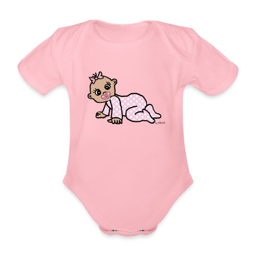 Baby Girl - Baby Bio-Kurzarm-Body