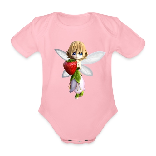 Strawberry - Fairy - Baby Bio-Kurzarm-Body