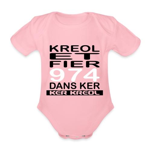 974 ker kreol - Kreole et Fier - Body Bébé bio manches courtes