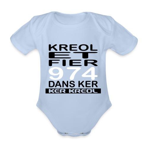Kreol et Fier - 974 ker kreol - Body Bébé bio manches courtes