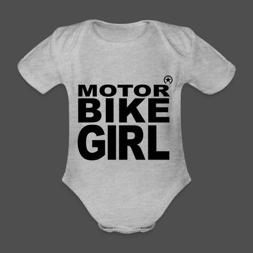Dziewczyna motocykl - Ekologiczne body niemowlęce z krótkim rękawem