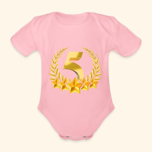 Fünf-Stern 5 sterne - Baby Bio-Kurzarm-Body