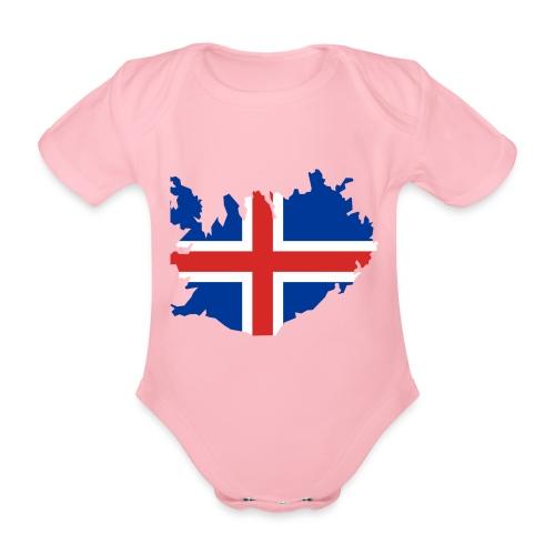 Iceland - Baby bio-rompertje met korte mouwen