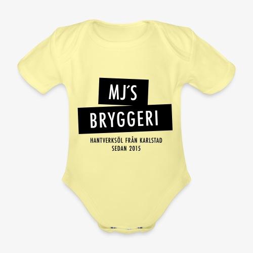MJs logga - Ekologisk kortärmad babybody