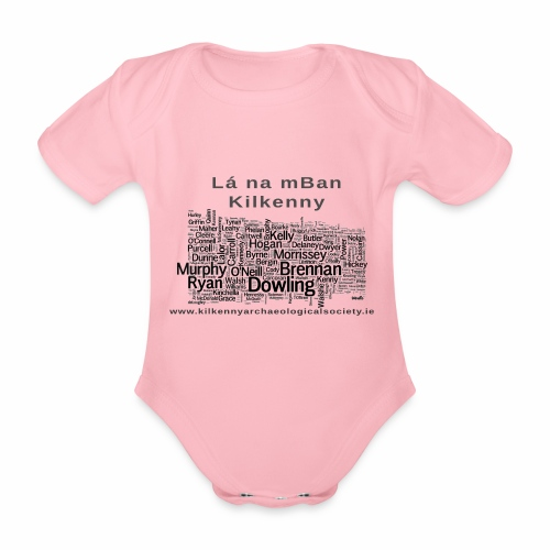 Lá na mBan black - Organic Short-sleeved Baby Bodysuit